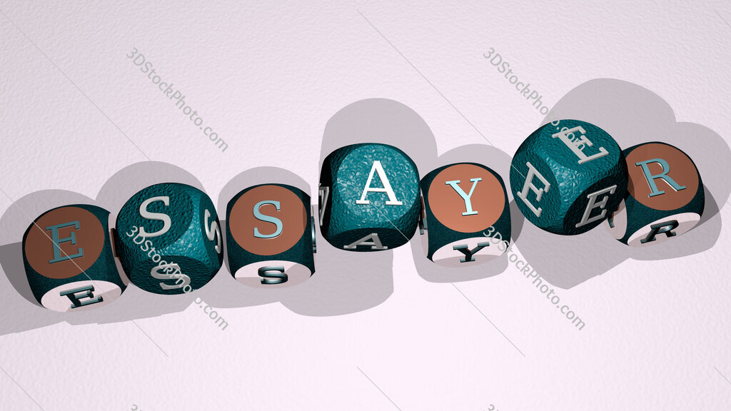 essayer text by dancing dice letters