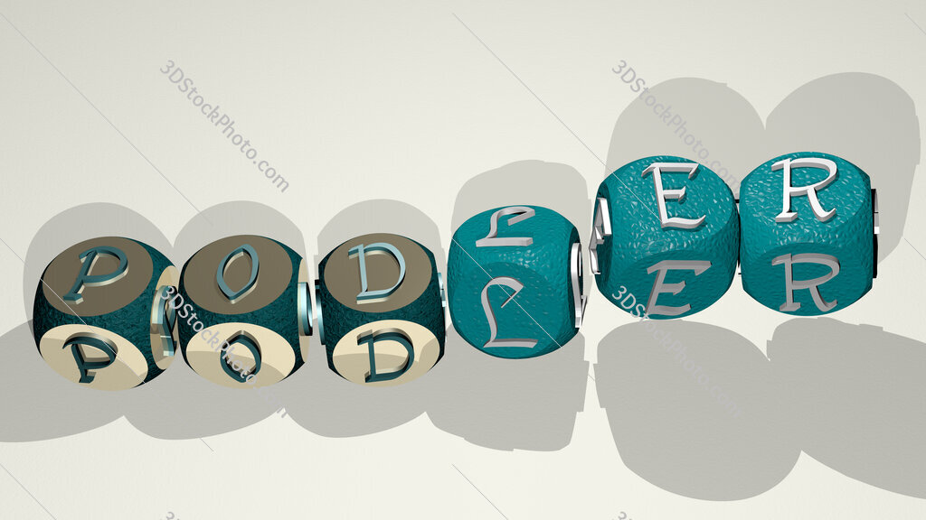 podler text by dancing dice letters