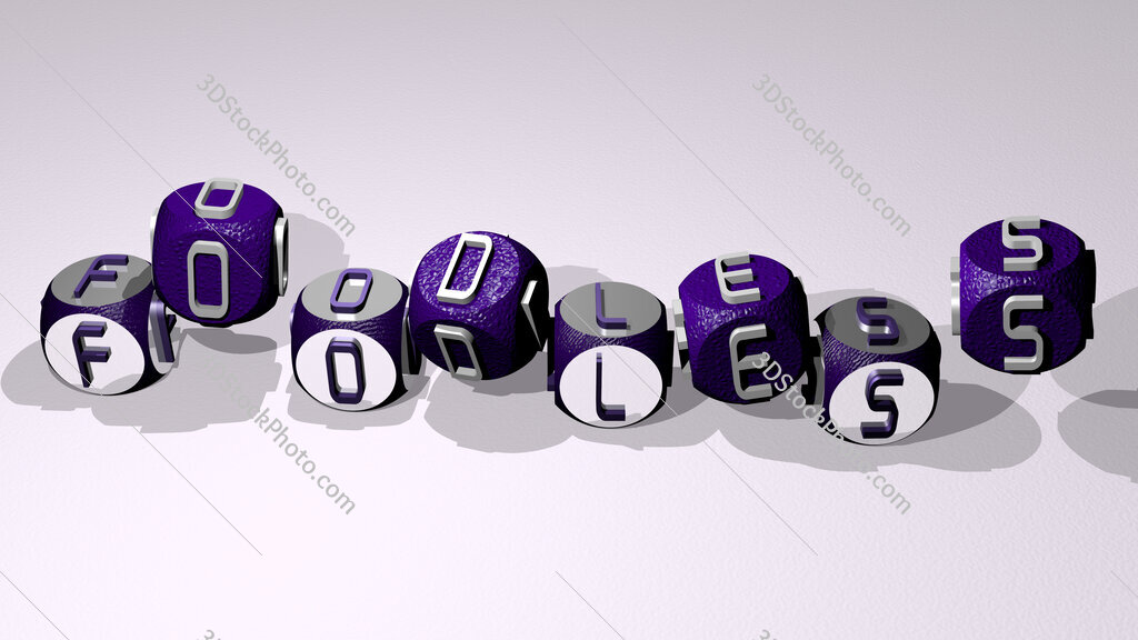 foodless text by dancing dice letters