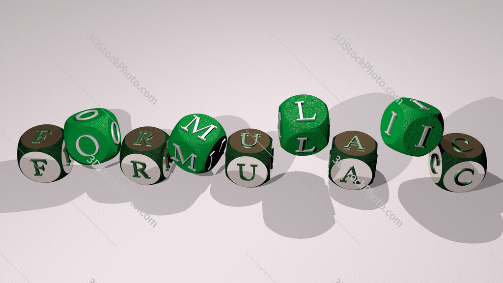 formulaic text by dancing dice letters