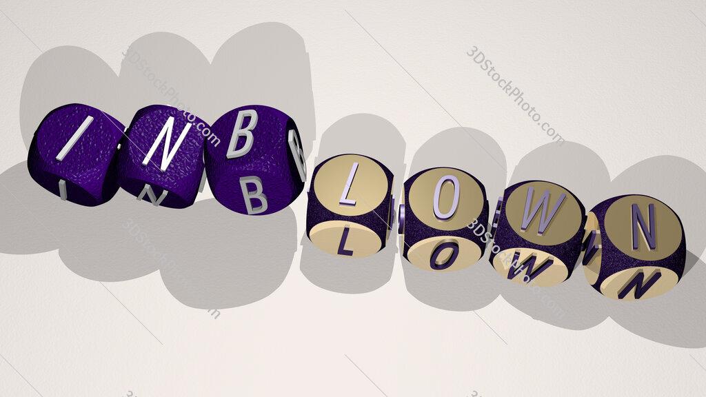 inblown text by dancing dice letters