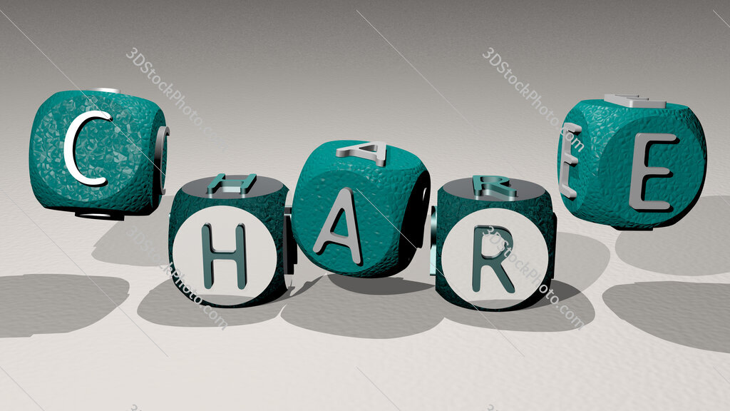 chare text by dancing dice letters