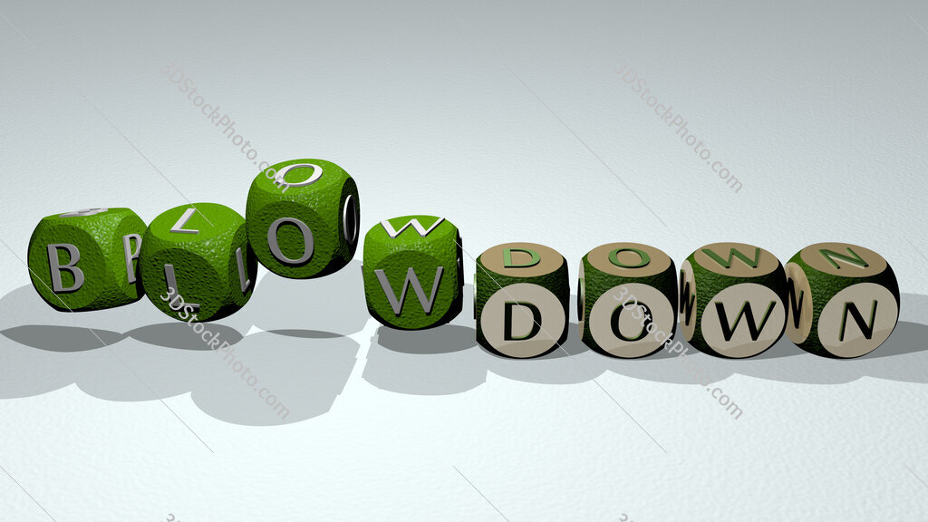 blowdown text by dancing dice letters