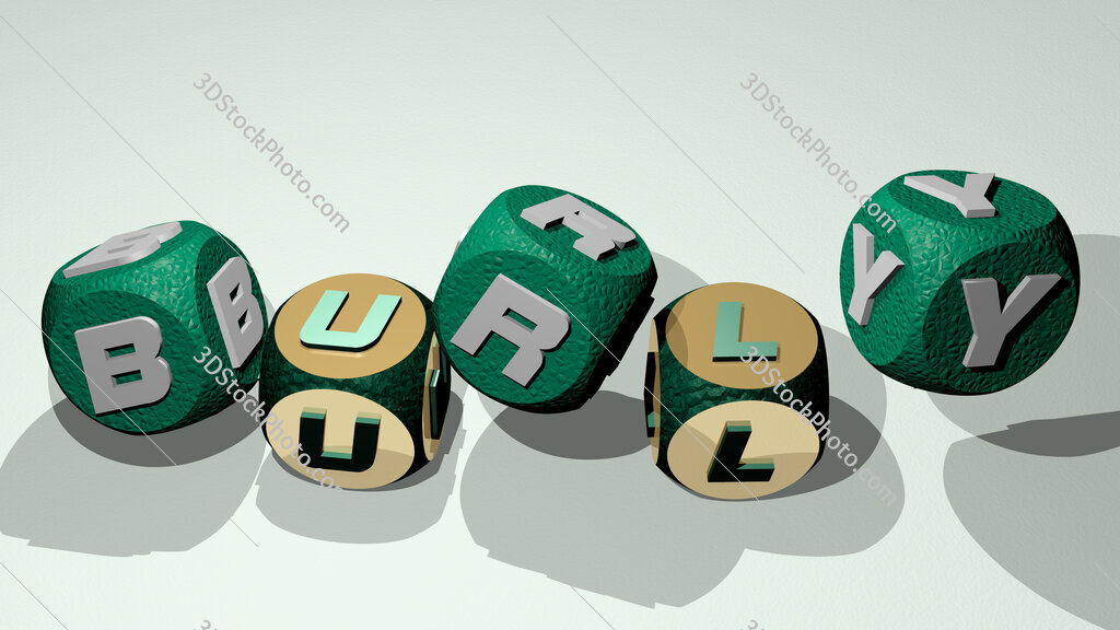 burly text by dancing dice letters