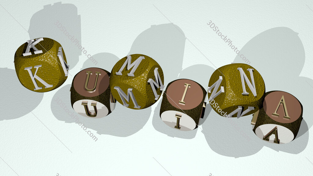 Kumina text by dancing dice letters