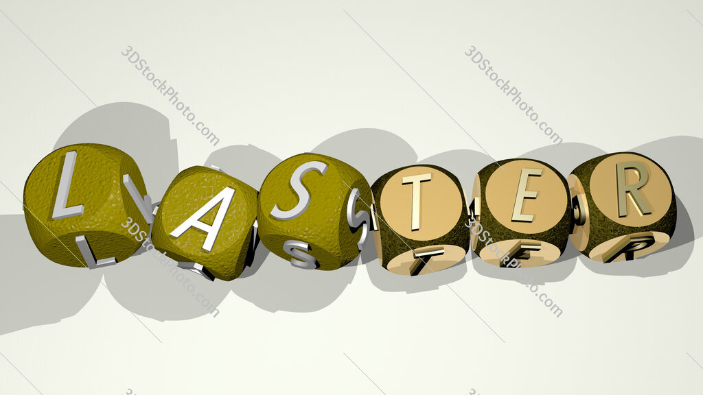 laster text by dancing dice letters