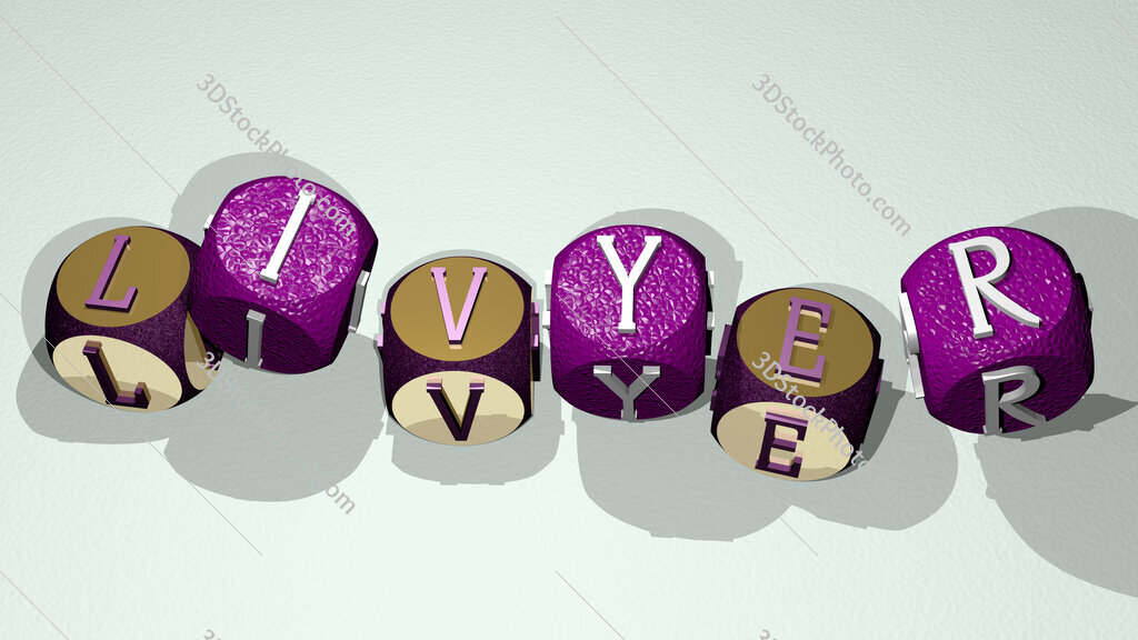 livyer text by dancing dice letters