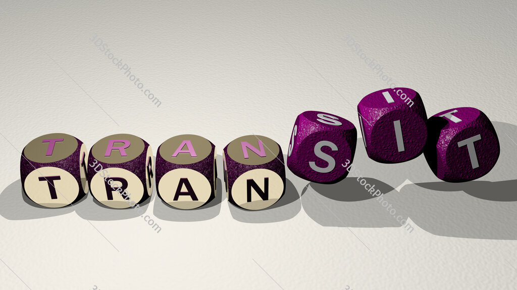 TransIT text by dancing dice letters