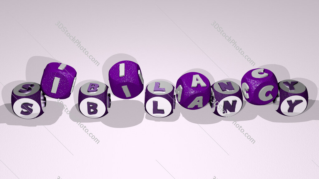 sibilancy text by dancing dice letters