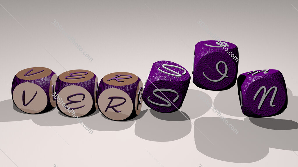 versin text by dancing dice letters