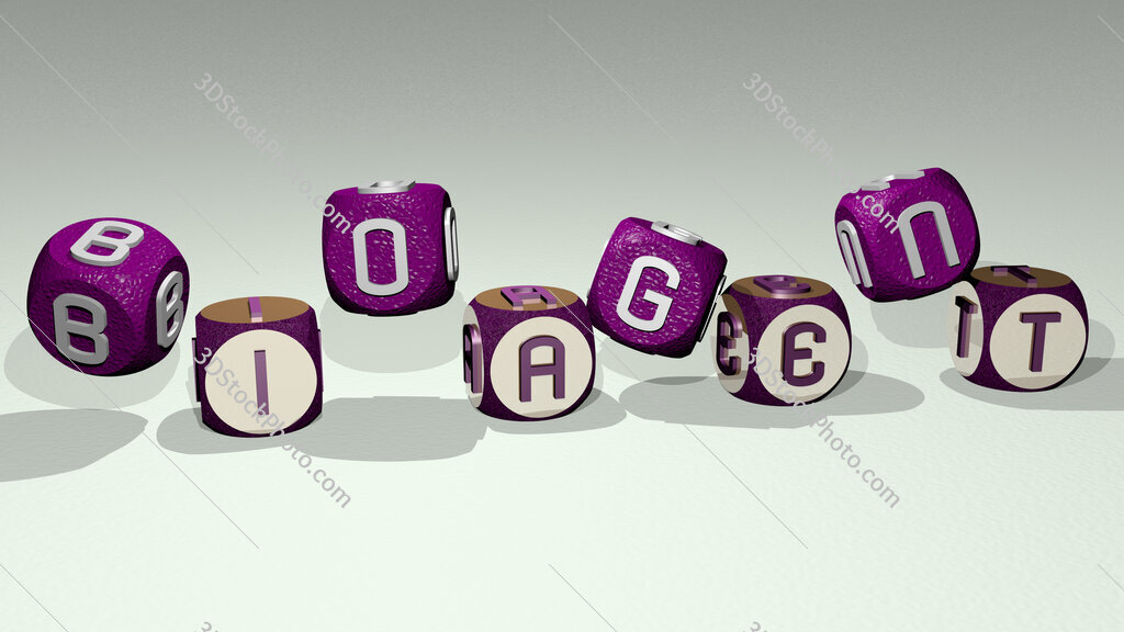 bioagent text by dancing dice letters