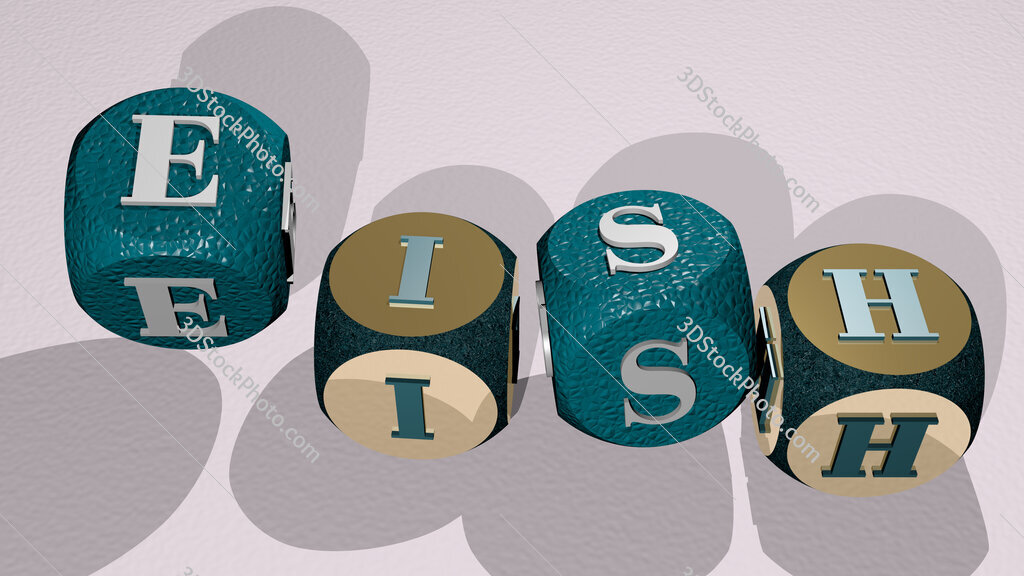 eish text by dancing dice letters