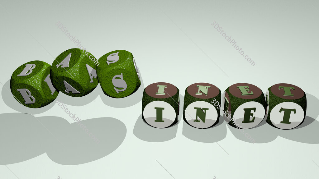 basinet text by dancing dice letters