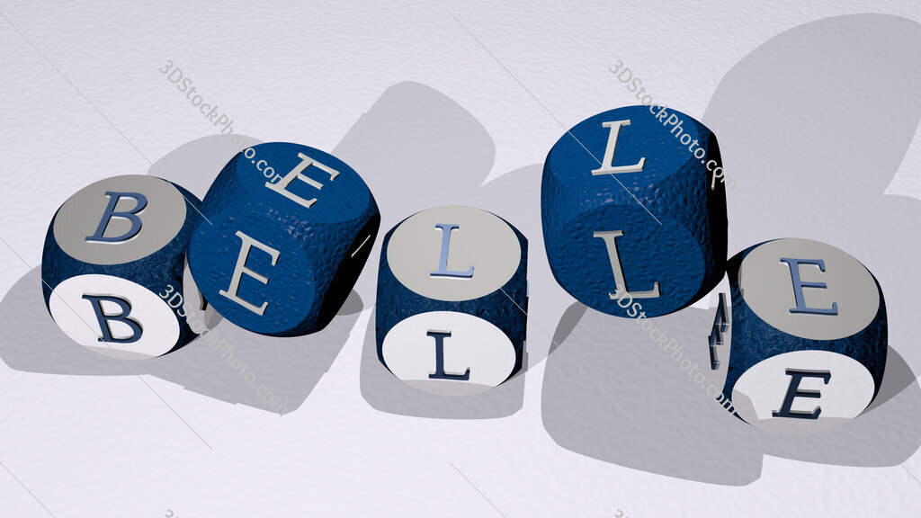 belle text by dancing dice letters