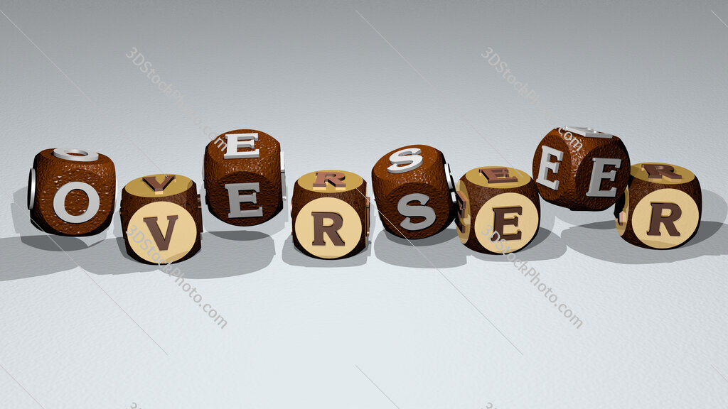 overseer text by dancing dice letters