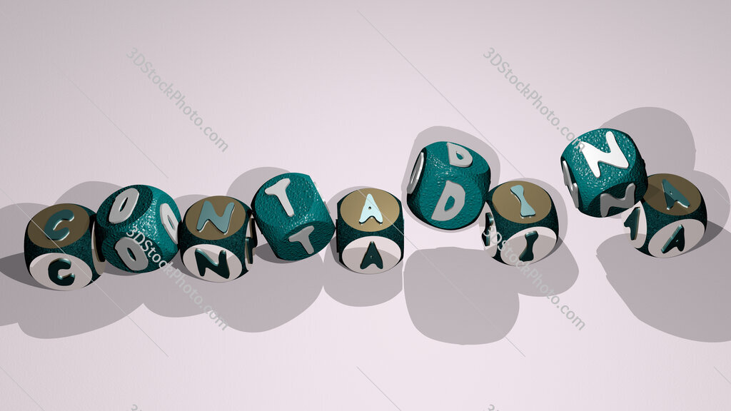 contadina text by dancing dice letters