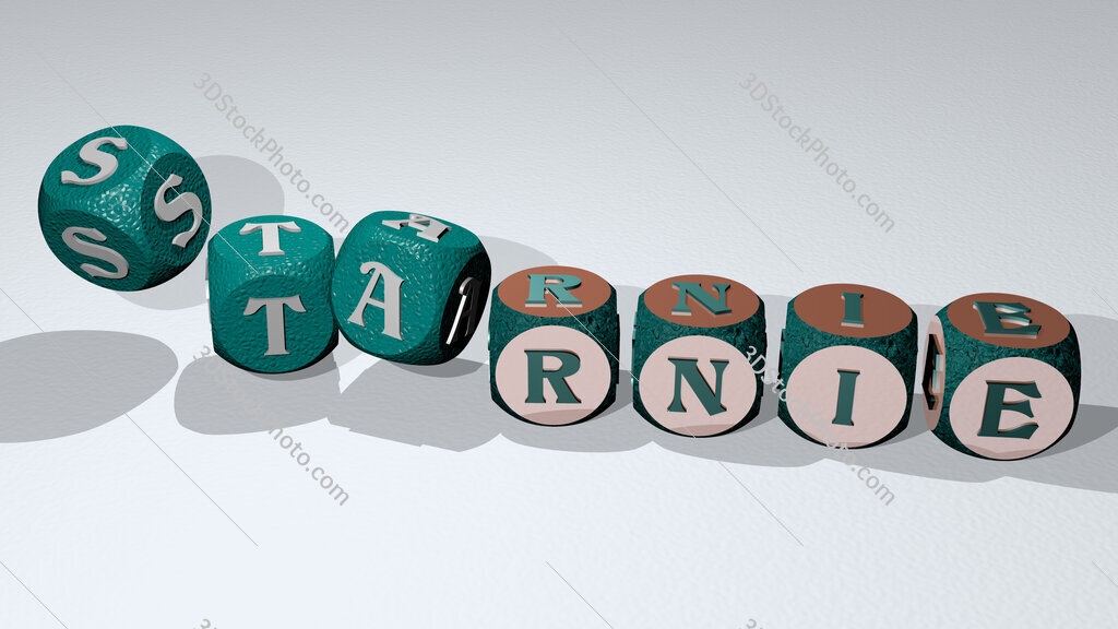 starnie text by dancing dice letters