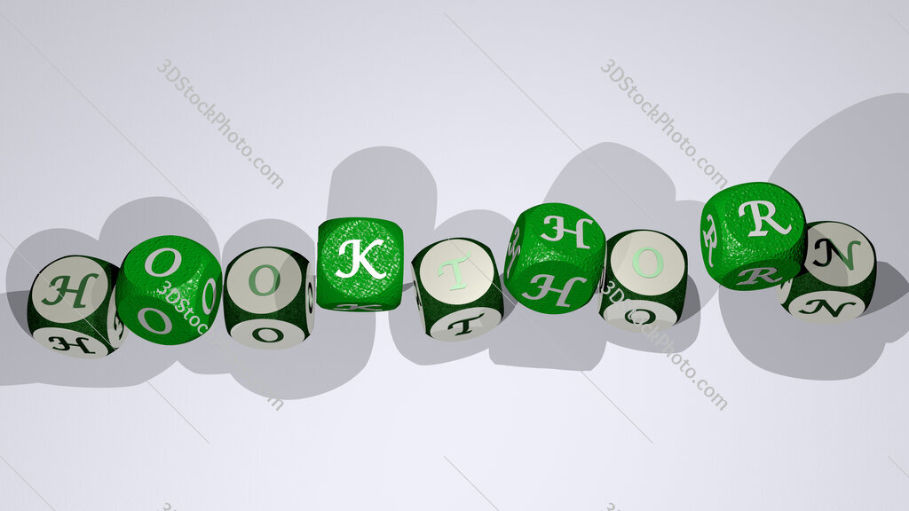 hookthorn text by dancing dice letters