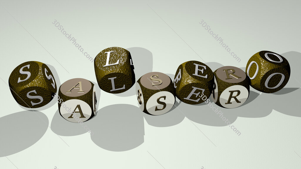salsero text by dancing dice letters