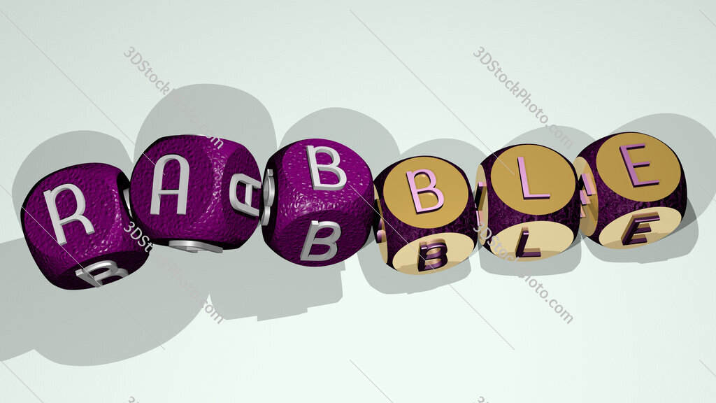 rabble text by dancing dice letters