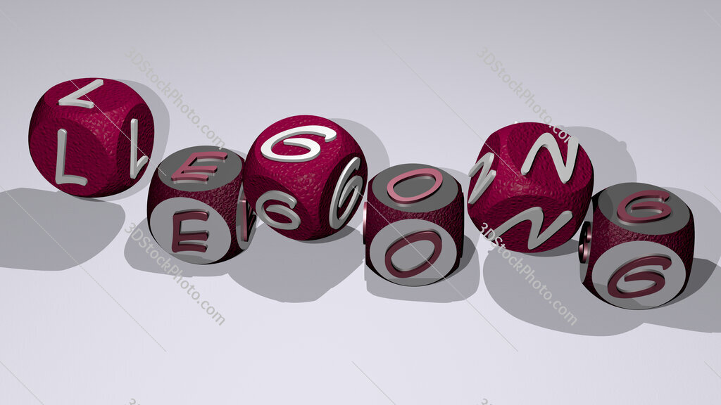 legong text by dancing dice letters