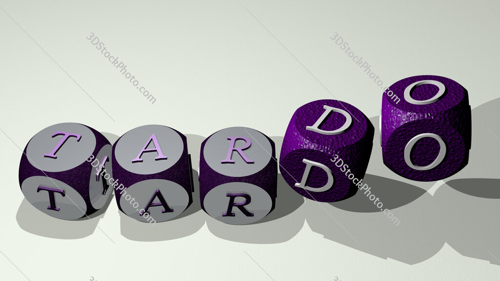 tardo text by dancing dice letters