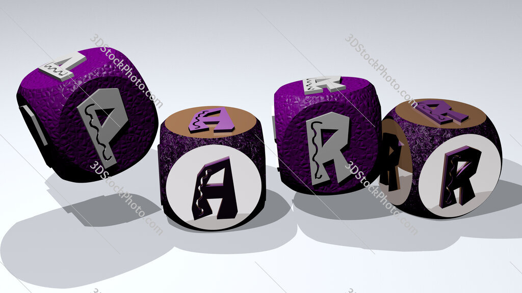 parr text by dancing dice letters