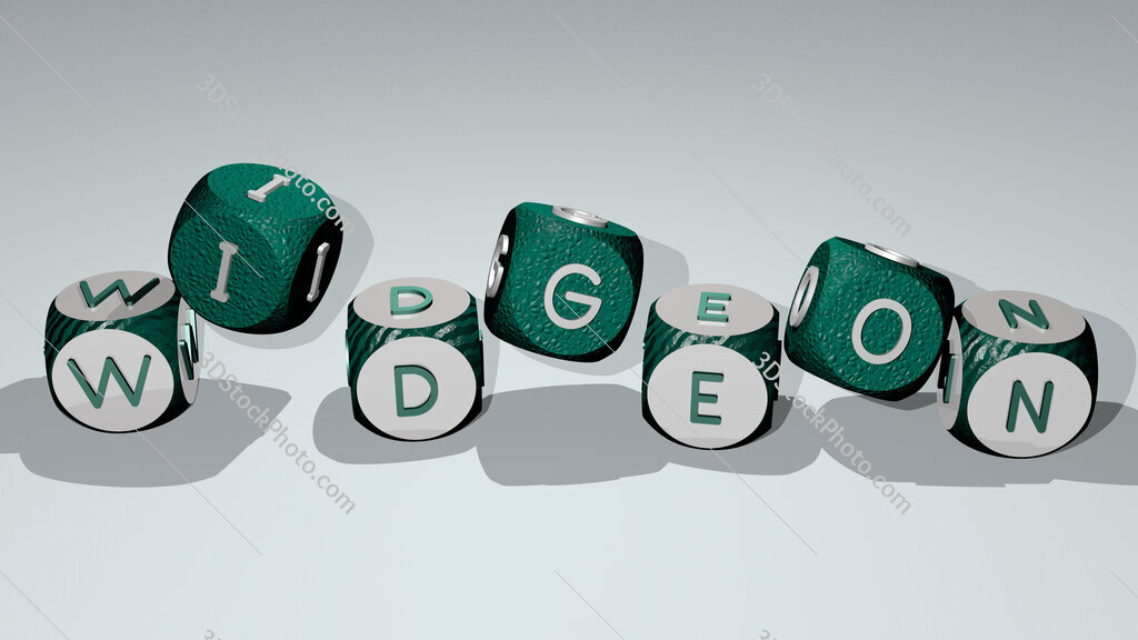 widgeon text by dancing dice letters