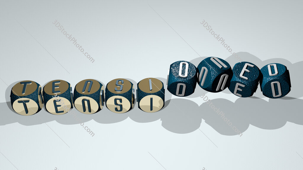 tensioned text by dancing dice letters