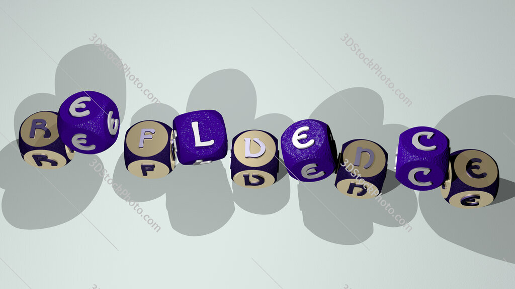refluence text by dancing dice letters