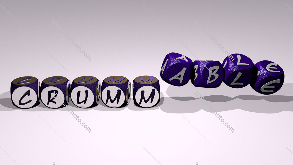 crummable text by dancing dice letters