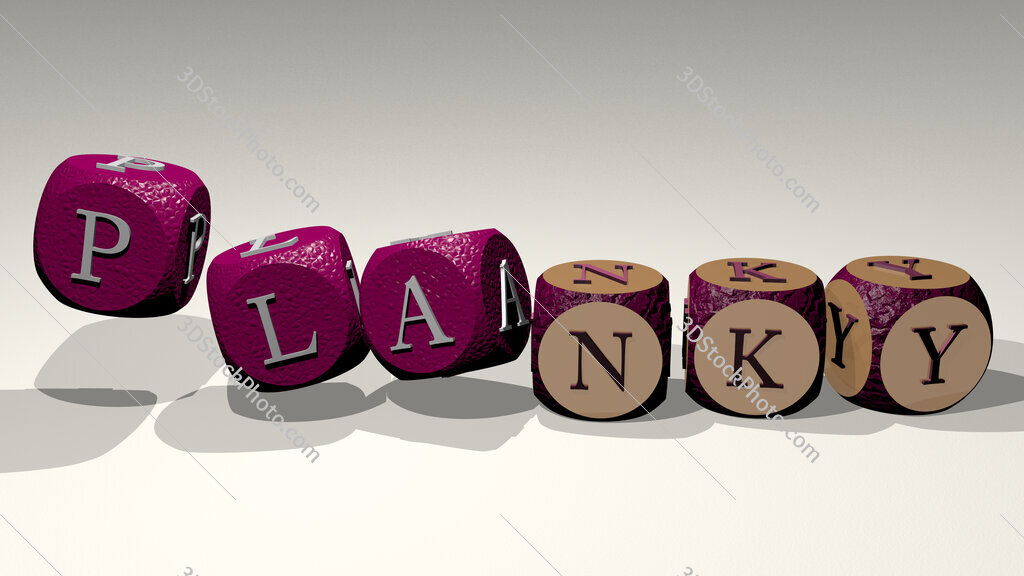 planky text by dancing dice letters