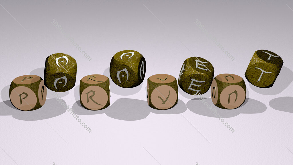 paravent text by dancing dice letters