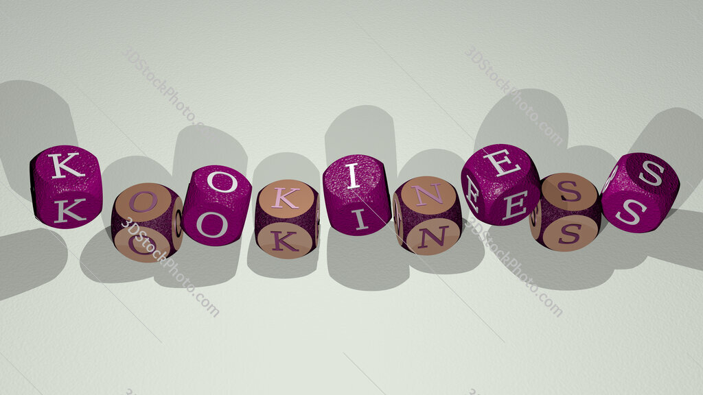 kookiness text by dancing dice letters