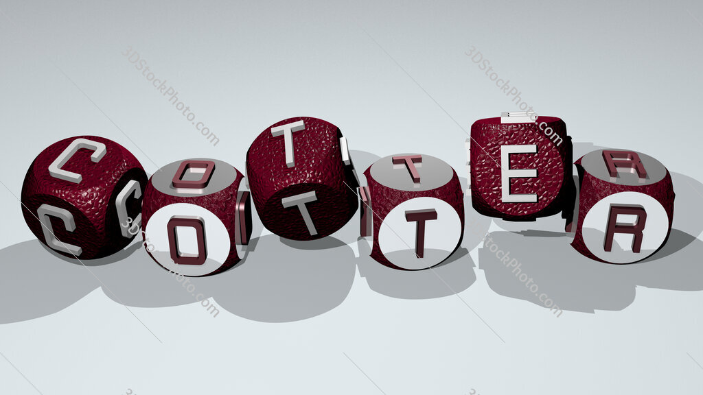 cotter text by dancing dice letters