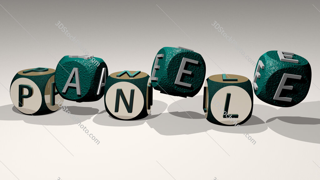 panele text by dancing dice letters