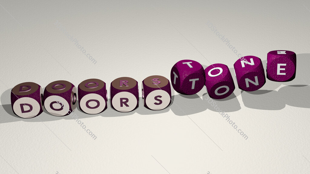 doorstone text by dancing dice letters