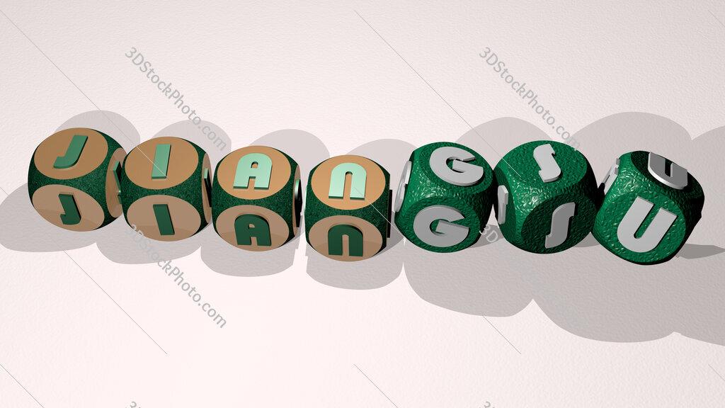 Jiangsu text by dancing dice letters