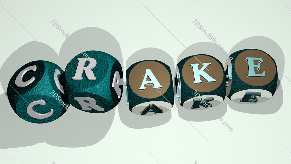 crake text by dancing dice letters