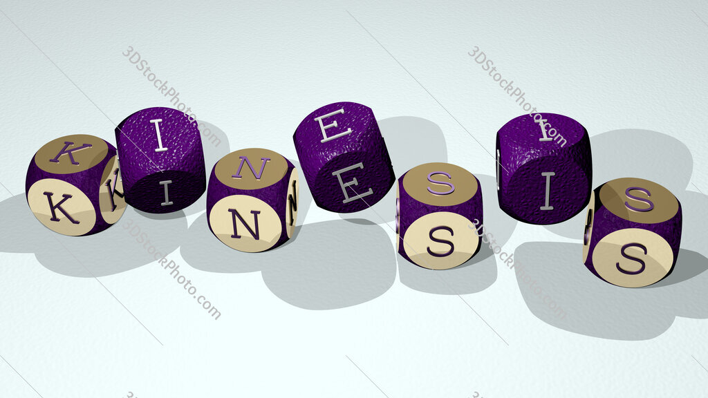 Kinesis text by dancing dice letters