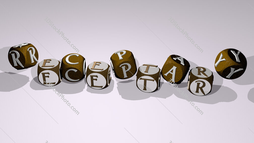 receptary text by dancing dice letters