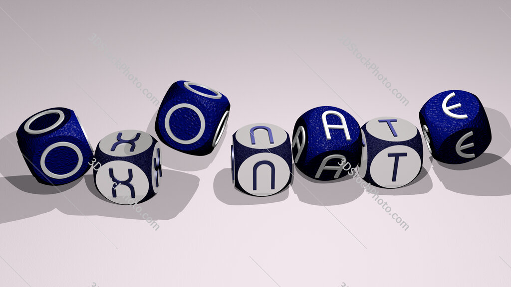 oxonate text by dancing dice letters