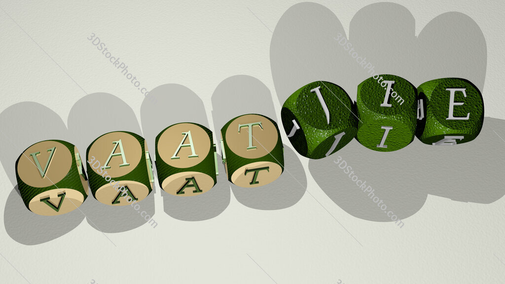vaatjie text by dancing dice letters