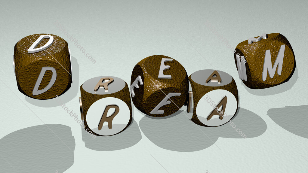 dream text by dancing dice letters
