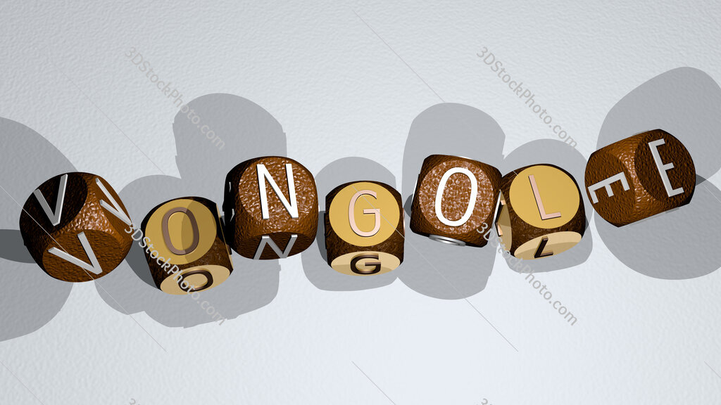 vongole text by dancing dice letters