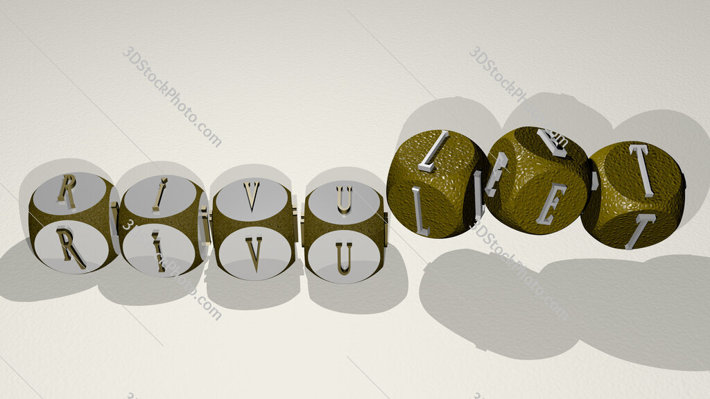 rivulet text by dancing dice letters