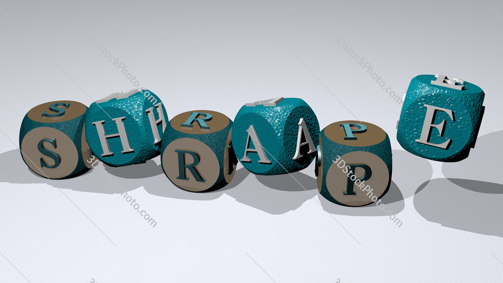 shrape text by dancing dice letters