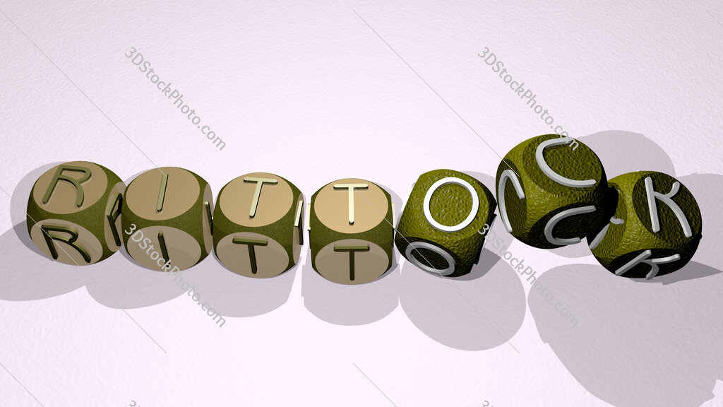 rittock text by dancing dice letters