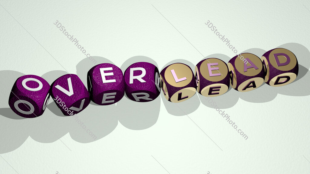 overlead text by dancing dice letters