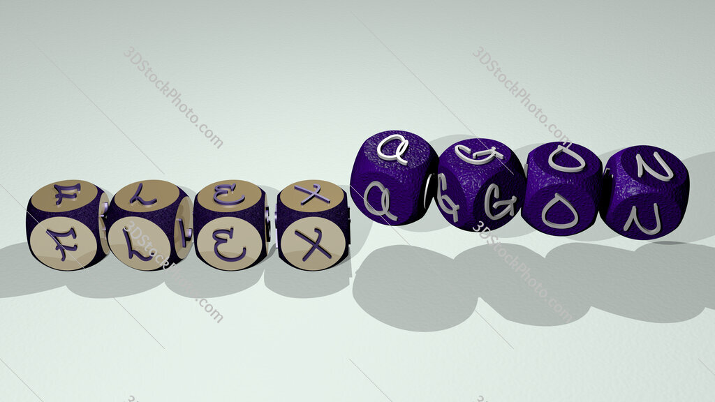 flexagon text by dancing dice letters